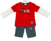 Baby Boys 2 Piece Outfit in Red Top & Bottoms - 0-3 Months