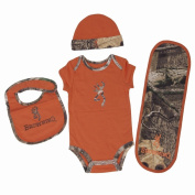 Browning Officially Licenced Baby Texas Orange 4 Piece Camo Set
