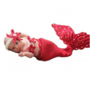 EBASE Infant Baby Ladybug Crochet Cotton Knit Costume Photo Prop