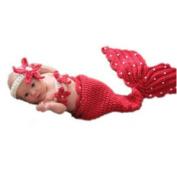 EBASE Infant Baby Ladybug Crochet Cotton Knit Costume Photo Prop