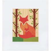 Fox Baby Print on Wood by Petit Collage - Fox Baby Print on Wood