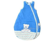 Jacky Baby sleeping bag 350001, high quality, cotton lined, very soft, blue, sleeveless, cosy and snug for safe sleeping to fit 3 - 6 months