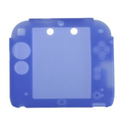 Protective Soft Silicone Rubber Gel Skin Case Cover for Nintendo 2ds Blue