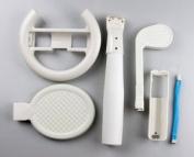 NEW 6-in-1 Kit for Nintendo Wii Sports Pack Wheel, Baseball, Golf Club, Tennis