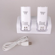 BestDealUSA Dual Wii Remote Charging Station with Battery Packs
