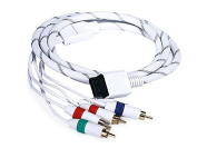 Monoprice 1.8m Audio Video ED Component Cable for Wii and Wii U - White