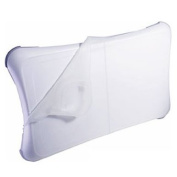 Nintendo WII FIT Balance Board Clear - White Silicon Skin Cover Sleeve Anti-slip Pad