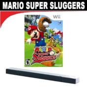 Mario Super Sluggers (Nintendo Wii) + Wii Wireless Sensor Bar
