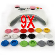 9 Pairs X Thumbstick Stick Grip Case for PS4 playstation 4 PS2 PS3 XBOX 360 Wii controller--9 colours