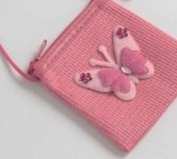 Childrens beautiful butterfly sparkly purse / hand bag, with long cross the body handle