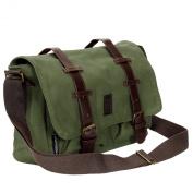 Crosshatch Cajon PU Leather Buckle Canvas Satchel Bag