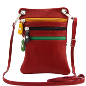 Tuscany Leather TL Bag - Soft leather mini cross bag Red