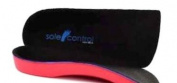 Sole Control Red Line 3/4 length Orthotic Insoles with firm Arch Support and Heel Cup