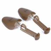 1 Pair of Adjustable Plastic Shoe Trees for Men UK Size 6-13---Brown