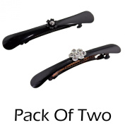 2 Pack Womens Rhinestones Hair Clip-Claw-Clasp Various Styles