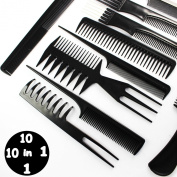 Hairdressing Stylists Barbers Combs 10 Piece Set with .