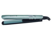 Compact Remington Shine Therapy Straightener Ceramic Infused Plates Emit Shine Enhancing Micro Conditioners