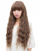 NuoYa005 Cosplay Party New Fashion Women Lady Long Curly Wavy Hair Full Wigs Light Brown