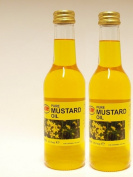 2 X KTC 100% Pure Mustard Multipurpose Oil 500ml - Used for Hair Oil, Skin Massage