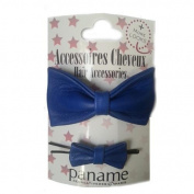 Paname-Paris Duo Leather Hair Clip Blue