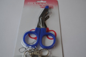 Mini Nurses Utility Scissors with Belt Clip - DARK BLUE HANDLE