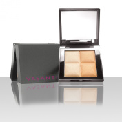 Vasanti See The Light Powder Highlighter Duo in Golden Child - Glowing Golden Highlighter for Face and Eyes Perfect for all Skin Tones - Paraben Free