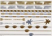 Palms - Gold Silver Metallic Temporary Tattoo's