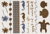 Shore - Gold Silver Metallic Temporary Tattoo's