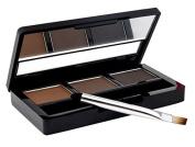 Waterproof Eyebrow Powder 3 Colours kit Light Medium Dark & Eyebrow Stencils