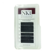 NYK1 INDIVIDUAL EYELASHES ULTRA SILK SOFT WEIGHTLESS FAUX MINK B & C CURL 8 - 12mm BLACK SUPERIOR QUALITY