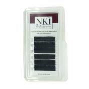 NYK1 INDIVIDUAL EYELASHES ULTRA SILK SOFT WEIGHTLESS FAUX MINK B & C CURL 8 - 12mm BLACK SUPERIOR QUALITY
