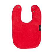 Mum2Mum STANDARD Wonder Bib - RED - Super Absortbent - Protects Against Eczema - 100% Cotton