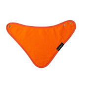 Mum2Mum BANDANA Wonder Bib - ORANGE - Super Absortbent - Protects Against Eczema - 100% Cotton
