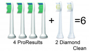 Philips Sonicare 4 Pro Results + 2 Diamond Clean Brush Heads