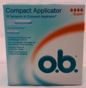 o.b. 16 Super Tampons with Applicator