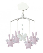 Trousselier VM1163 03 Musical Mobile Rabbit Angel Theme Pink