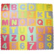 Large Soft Foam EVA Floor Mat Jigsaw Tiles Alphabet & Numbers Kids Babies Puzzle