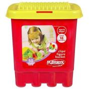 Playskool Clipo Figure 50 Piece Bucket