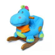 Labebe Wooden Baby Rocking Horse Ride-on Toys - Blue Dinosaur