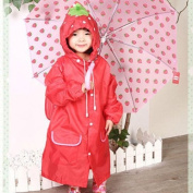 HuntGold Cute Kids Children Boy Girl Rain Coat Outwear Cartoon Hooded Waterproof Raincoat