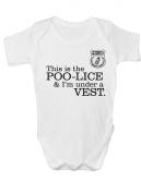 Funny Joke Police Poo-lice baby grow romper