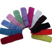 12pcs Crochet Headbands Hair Kid Baby Toddler