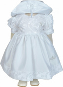 Girls White Butterfly Dress and Hat Set 0-3 - 18-23 Months