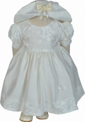 Girls Cream Butterfly Dress and Hat Set 0-3 - 18-23 Months