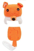 Newborn Baby Photography Props Fox Outfit Girl and Boy Handmade Knitted Hat