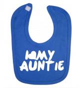 'I Love My Auntie' funny cute unisex baby feeding bib