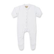 Larkwood Baby Unisex Plain Long Sleeved Sleepsuit (6-12)