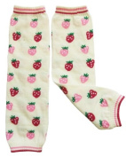 Leg warmers by Dotty Fish Pink Strawberry design - One Size Girls