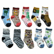 Zehui Toddler Baby Cartoon Patterns Cotton Socks Kids Anti-slip Sole Cute Socks