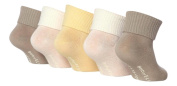 5 Pairs Baby Elle BE004 Stone Cream TOT Ankle Socks